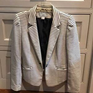 H&M Navy and off white stripe blazer